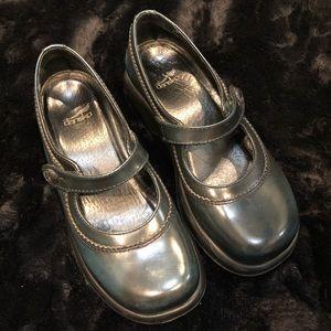 Dansko Mary Jane Leather Slip-on Clog Shoes 36